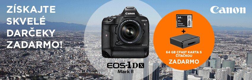 EOS 1D-X Mark II + 64GB CFast karta + čítačka ZADARMO