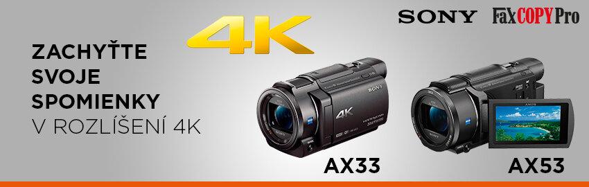 Akcia na Sony 4K kamery