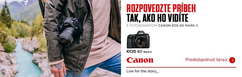 Nová zrkadlovka Canon EOS 6D Mark II
