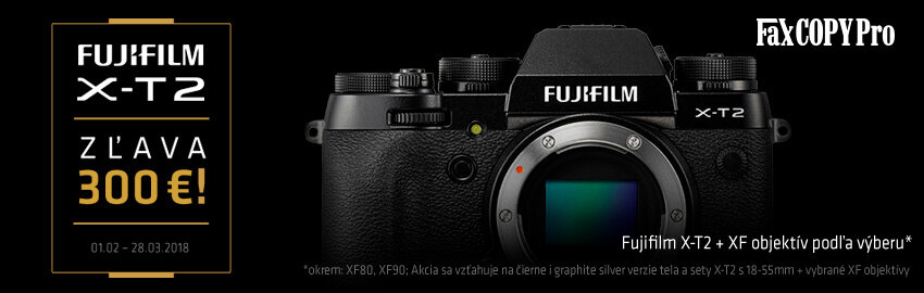 Fujifilm X-T2 - zľava 300€
