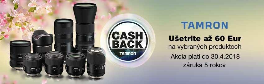 Tamron Cashback apríl 2018
