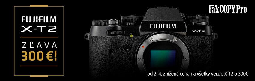 Fujifilm X-T2 - znížená cena o 300€