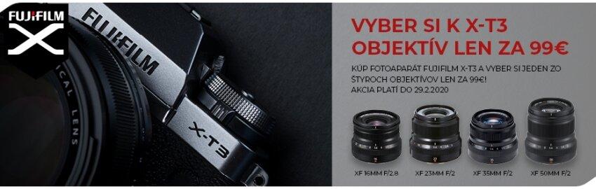 K fotoaparátu Fujifilm X-T3 objektív za 99€