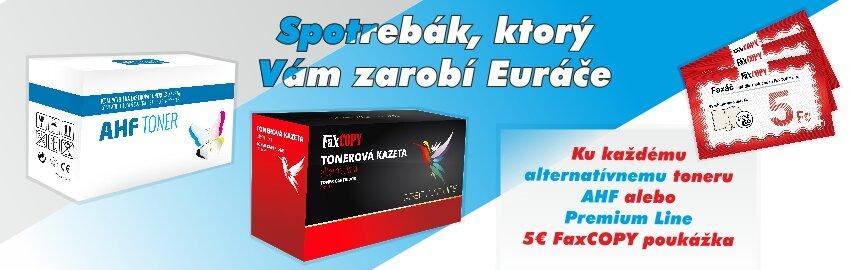 Alternatívne tonery + 5€