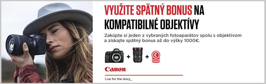 Canon spätný bonus až 1000€