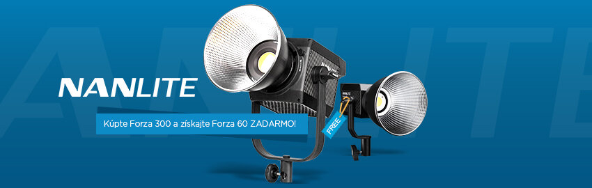 Nanlite LED svetlo 1+1 ZADARMO