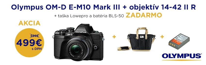 Akcia Olympus OM-D E-M10 Mark III