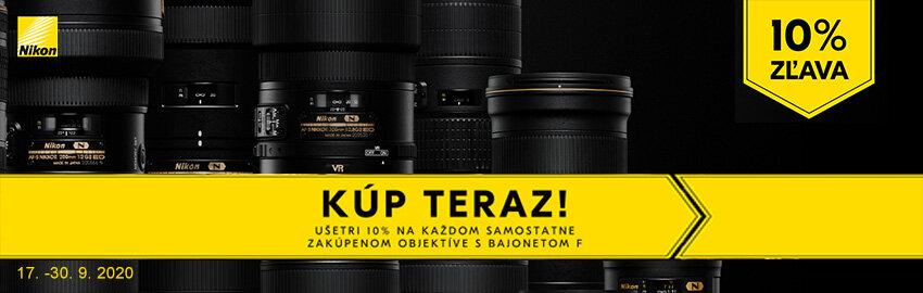 Zľava -10% na objektívy Nikon F