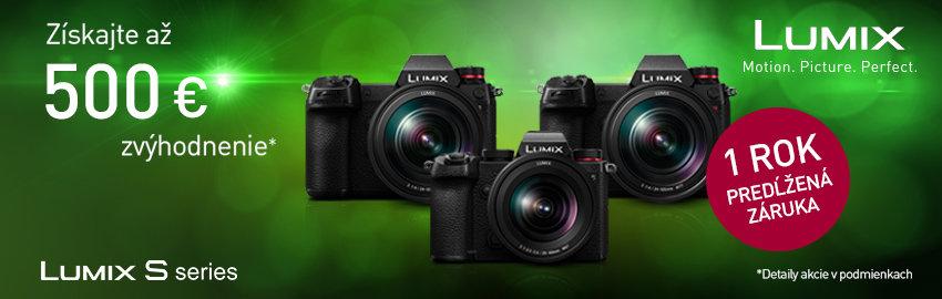 Panasinic Lumix S so zľavou až 500€ a predĺženou zárukou