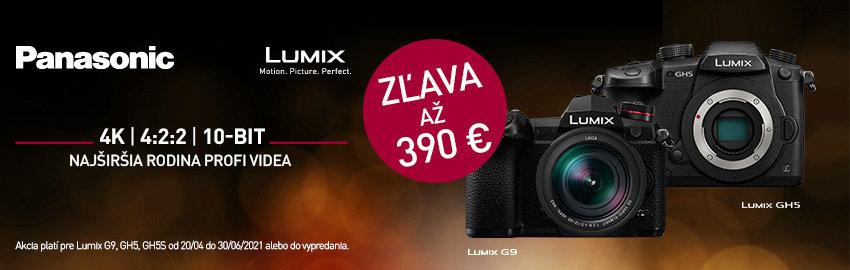 Akcia Panasonic GH5 a G9 - zľava až 390€