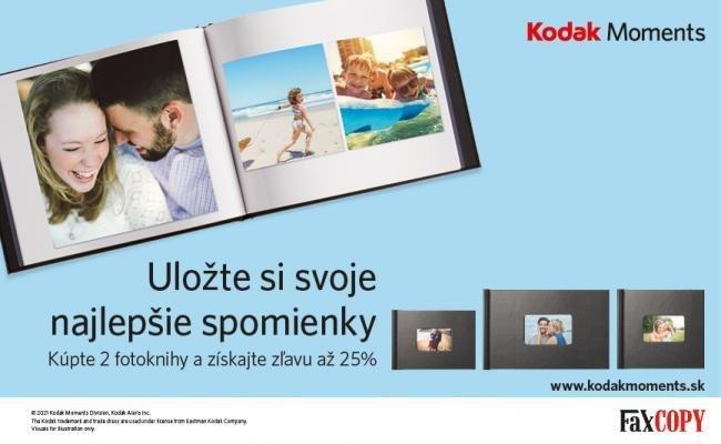 Zľava 25% na fotoknihu Kodak
