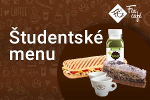 Študentské menu vo FaxCafé