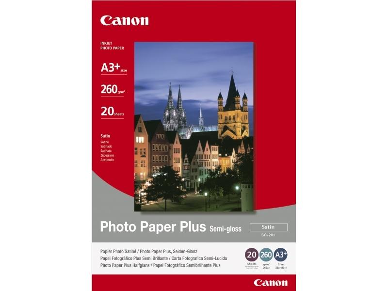 Canon SG201 Photo Paper Plus Semi-gloss, A3+, 260g (bal=20ks)