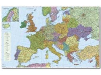 Mapa 135x100cm Europa cestná sieť 1:3,5mil.