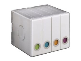 Hama 96104 plastový cd/dvd Album box 96, biely/transparentný