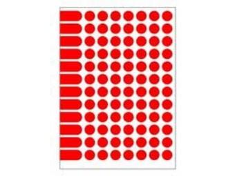 AGIPA Etikety na A5 15mm červené...