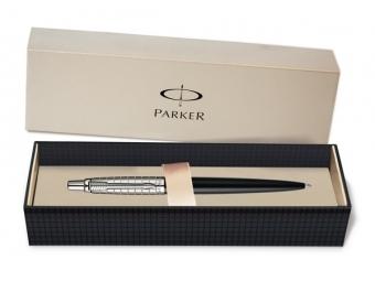 Parker JOTTER Premium Satin Black Stainless Steel Chiselled, guličkové pero