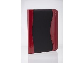 Smile Portfólio A4 so zipsom s kalkulačkou červeno-čierne