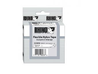 Dymo D1 Flexibilná nylonová páska 19mm biela/čierna