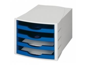 HAN Monitor otvorené zásuvky, sivá/modrá