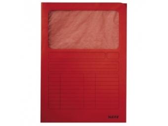 Esselte Zakladacie zložky s okienkom červené,220x310mm (bal=100ks)