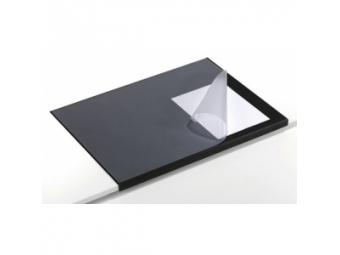 Durable Podložka na stôl 650x520mm s priehľ. fóliou čierna