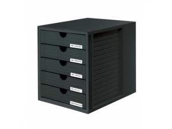HAN System-box zatvorené zásuvky, čierny