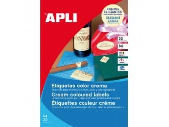 APLI Etikety univerzálne krémové...