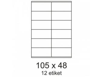 Etikety 105x48mm biele (bal=100hár)