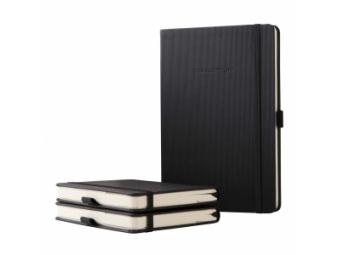 Sigel zápisník CONCEPTUM A5 s gumičkou,linajkový čierny