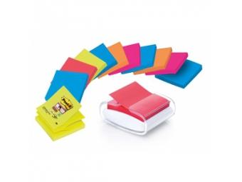 3M Post-It Dispenzor so Z-bločkami 76x76mm mix farieb (bal=12x90l)