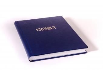 Kronika A4 200 listov, celastik/modrá