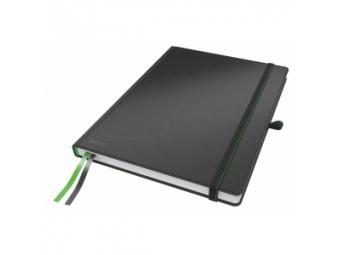 Leitz zápisník Complete A4 s gumičkou,linajkový čierny