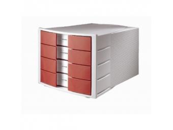 HAN Zásuvkový box Impuls zatvorený sivo/červený