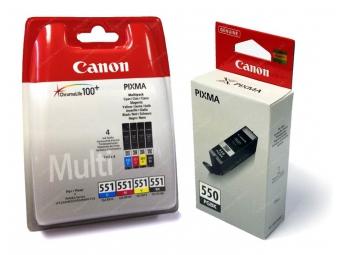 Canon PGI-550 + CLI-551 C/M/Y/BK/GY...