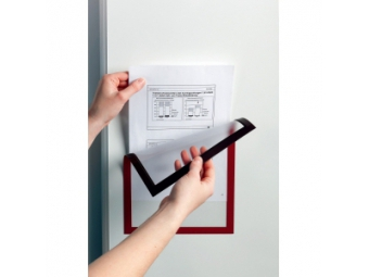 Durable Informač. panel A4 magnet. DURAFRAME MAGNETIC červený (bal=5ks)