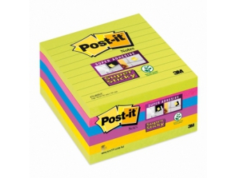 3M Post-It samolepiaci bloček 101x101mm linajkový (bal=6x90l)