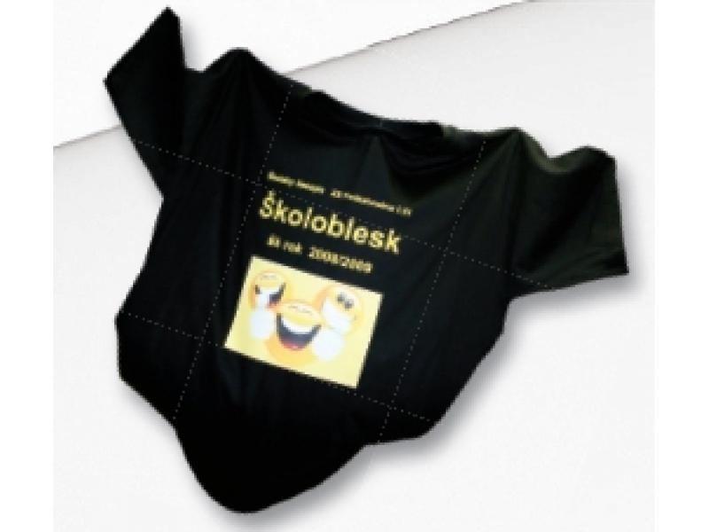 Potlač priama do 600cm2/ tmavý textil prinesený zákazníkom, bavlna