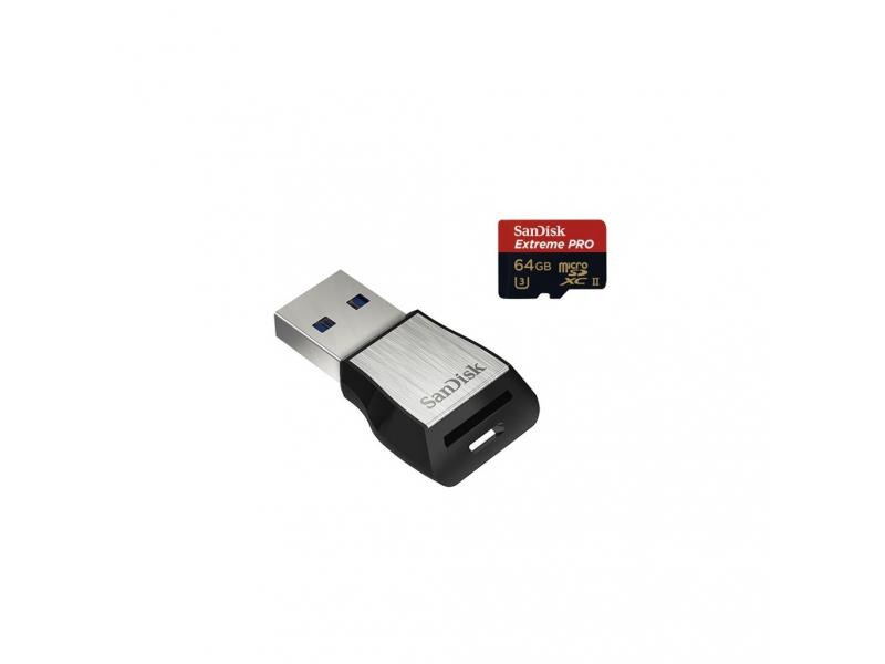 SanDisk microSDXC Extreme Pro 64 GB 275 MB/s Class 10 UHS-II U3 + USB 3.0 čítačka