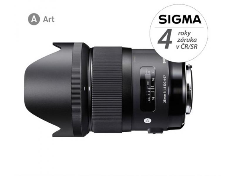 Sigma 35/1,4 DG HSM ART Canon záruka 4 roky