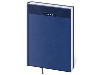 Diár 2018 PRINT Classic denný,400 str,21x29,7cm (A4) modrý