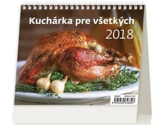 Kalendár 2018 KUCHÁRKA PRE VŠETKÝCH stolový,týždenný,riadkový 171x139mm
