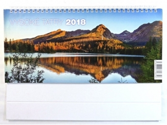 Kalendár 2018 VYSOKÉ TATRY Neo stolový,týždenný,riadkový 297x140mm