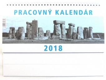 Kalendár 2018 PRACOVNÝ veľký Neo stolový,týždenný,stĺpcový 297x142mm