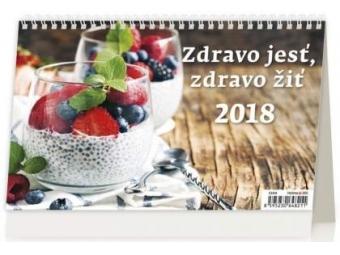 Kalendár 2018 Zdravo jesť,zdravo žiť stolový,týždenný,riadkový 226x139mm