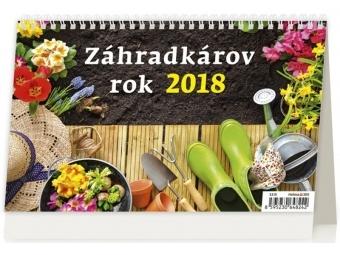 Kalendár 2018 ZÁHRADKÁROV ROK stolový,týždenný,riadk. 226x139mm