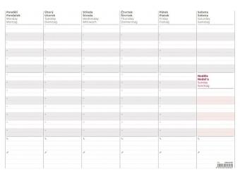 Kalendár Mapa 2018 plánovacia týždenná A3