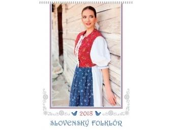 Kalendár 2018 SLOVENSKÝ FOLKLÓR nástenný 340x460mm