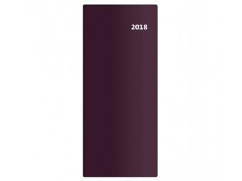Diár 2018 TORINO mesačný 32strán,7,7x17,8cm bordový