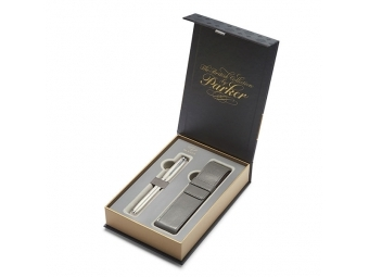 Parker URBAN Premium Pearl Metal Chiselled roller + puzdro